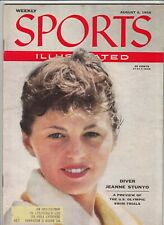 August 6, 1956 Sports Illustrated Magazine Diver Jeanne Stunyo on Cover