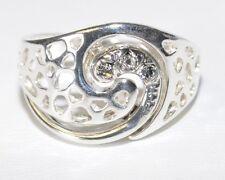925 Silber - Ring mit Swarovski Steinen - Größe 14 (54) - Unikat - Einzigartig !