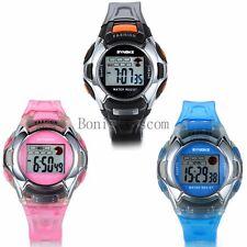 LED Digital Alarm Day Student Kids Wrist Watch Waterproof Children's Day Gift