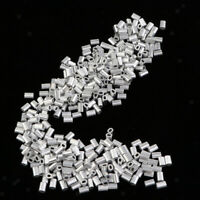 Perfeclan 1000Pcs Fishing Aluminium Crimp Sleeves 0.8mm 1mm 1.2mm 1.5mm