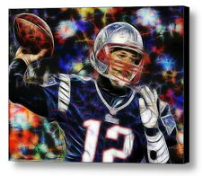 Framed New England Patriots Tom Brady 9X11 Art Print Limited Edition signed COA