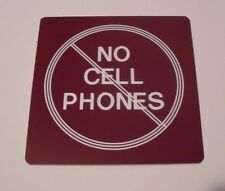 NO CELL PHONE SIGN Engraved Plaque Home/Door Business YOU CHOOSE YOUR COLOR
