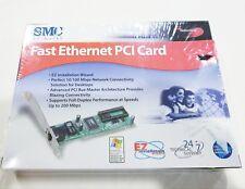 SMC NETWORKS FAST ETHERNET PCI CARD EZ 10/100 Mbps SMC1244TX NEW SEALED BOX