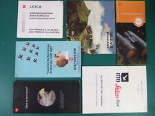 LEICA BINOCULARS 5x Brochures 8x20 10x25 Trinovid Instructions BTO Leica List