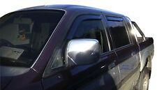 DMI23342 MITSUBISHI L-200 4 doors 99-06 wind deflectors 4pc set TINTED HEKO