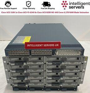 Cisco UCS 5108 1x UCS-FI-6248 8x UCS B200 M5 448 Cores 6.1TB RAM Blade Solution