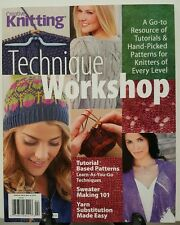 Creative Knitting Technique Workshop Pattern Tutorial Apr 2016 FREE SHIPPING JB