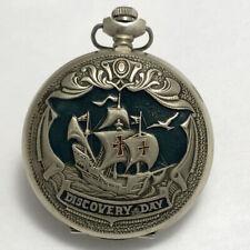 Rare vintage Russian soviet USSR Pocket watch Molniya Discovery Day Columbus