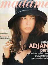 madame FIGARO 13/04/2002 isabelle adjani princesse salma spoerri