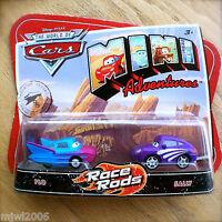 Disney PIXAR World of Cars MINI ADVENTURES Race Rods FLO & SALLY 2-PACK plastic