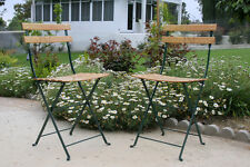 New Outdoor Patio Chairs Enamel Coated Steel & Wood