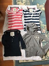 4 Pre-owned Junior Girls A&F:Long Sleeve Zip-Up Hoodie&1/2 Button Up Polo Size S
