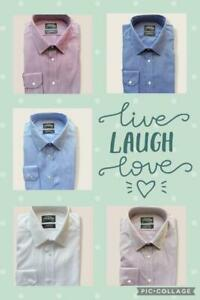 The Collection Men's  Non Iron Pure Cotton Formal Classic Shirt Fit Shirt