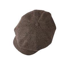 Wolle Tweed Schiebermütze Herren Mützen Newsboy Flat Cap Ballonmütze Schirmmütze