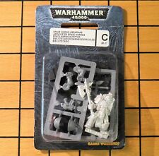 40k Rare oop Vintage Metal Space Marine HQ Librarian w/ Force Ax NIB 1