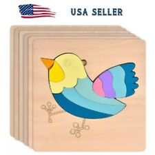 Wooden Puzzle Jigsaw Baby  Kids Learning Educational Fun Toy