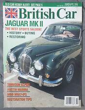 BRITISH CAR MAGAZINE 1994 FEBRUARY JAGUAR MK II SUNBEAM ALPINE HEALEY MARINA MGB