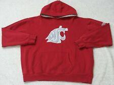 Hooded Sweatshirt XL Long Sleeve Solid Red Men's Stadium Washington Cougars Mans