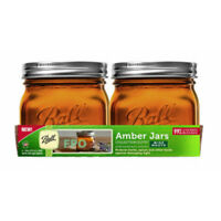 Ball 1440069045 Collection Elite Performance Series Amber Jars, 16 Oz, 4-Pack