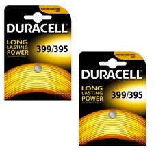 2 x Duracell 399 395 Watch Batteries Silver Oxide Coin Battery SR9327W D399