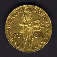 Netherlands - Holland. 1781 Gold Ducat..  EF - Part Lustre
