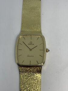 Omega 14K Yellow Gold Quartz Watch