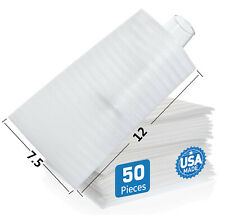 50 Foam Packing Pouches 75x12 Cushion Shipping Moving Wrap Fragile Dishes Cup