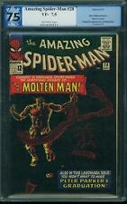 Amazing Spider Man # 28 US Marvel 1965 1st Molten on Ditko PGX 7.5 VFN-CGC