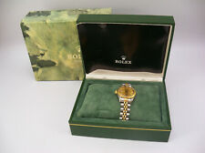Women's 18k Gold & Steel Rolex Oyster Perpetual DateJust Jubilee Watch #69173