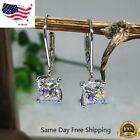 Внешний вид - Elegant 925 Silver Jewelry Drop Earrings for Women White Sapphire A Pair/set