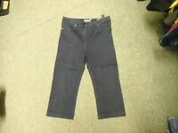 """Per Una Straight Leg Jeans Size 14 Leg 20"""" Faded Dark Blue/Black Ladies Jeans"""