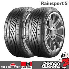 2 x Uniroyal RainSport 5 Performance Road Tyres - 225 45 17 91Y