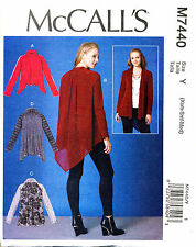 McCalls Sewing Pattern 7440 Misses 16-26 Loose-fitting Raglan Jackets Plus Sizes