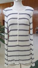 Gorgeous Navy White Stripped Shirt SZ M by Luxury Apparel Made in USA