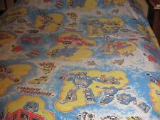 Vintage Transformers Twin Flat Sheet Hasbro 1984