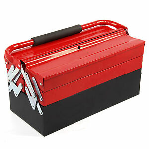 Large Heavy gauge Steel Metal Cantilever Tool Box Storage 3 Tier 5 Tray Tool Box