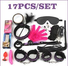 17pcs Sex-Toys Set for Women/Men Costume Couple Belt/Handcuffs/Eye Mask Love Kit