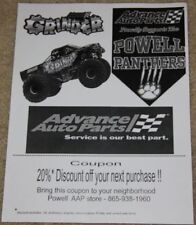 "2013 ""Grinder"" Advance Auto Parts Monster Truck Knoxville copy paper handout"
