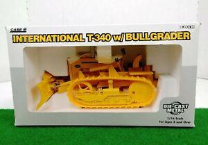 ERTL CASE IH INTERNATIONAL T-340 W/Bullgrader 1/16 Scale DieCast NIB!!