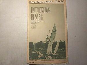 Vintage 1970 Nautical Chart-Potomac River-Washington DC-Maryland-Virginia-Maps