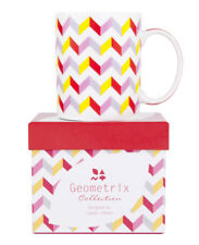 NEW Ashdene Fine Bone China Coffee or Tea Mug Carrington Zig Zag Pattern