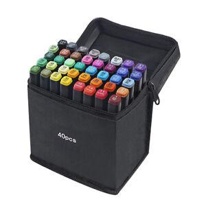 40 Color Markers Paints Pens Art Permanent Writing Markers for Photo Album
