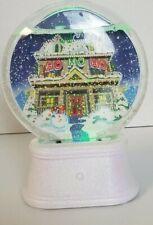 Hallmark Ho Ho Ho Light Up Snow Globe Snowglobe Glitter Christmas Holidays Noel