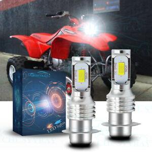 For Honda Sportrax TRX400EX 1999-2008 - 6000K White LED Headlights Bulbs Kit YTB