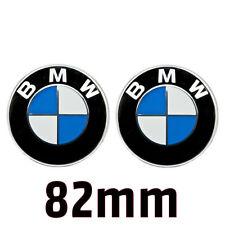 2x BMW Emblem 82mm Haube Logo für Vorne Hinten Motorhaube Heckklappe