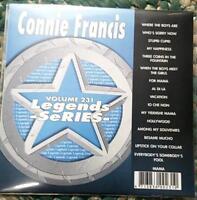LEGENDS KARAOKE CDG CONNIE FRANCIS #231 OLDIES POP 17 SONGS STUPID CUPID,MAMA