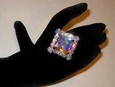 Adjustable Crystal AB Rhinestone Ring Drag Queen SSMQ-1-AB/S