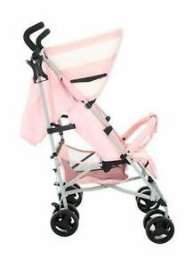 My Babiie Billie Faiers MB01 Pink Striped Light Weight Pram Baby Pushchair - New
