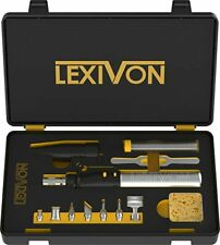 Lexivon Butane Soldering Iron Multi Purpose Kit Cordless Self Igniting Adjusta