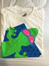 Men's White Gecko Hawaii Graphic T-Shirt Size Large